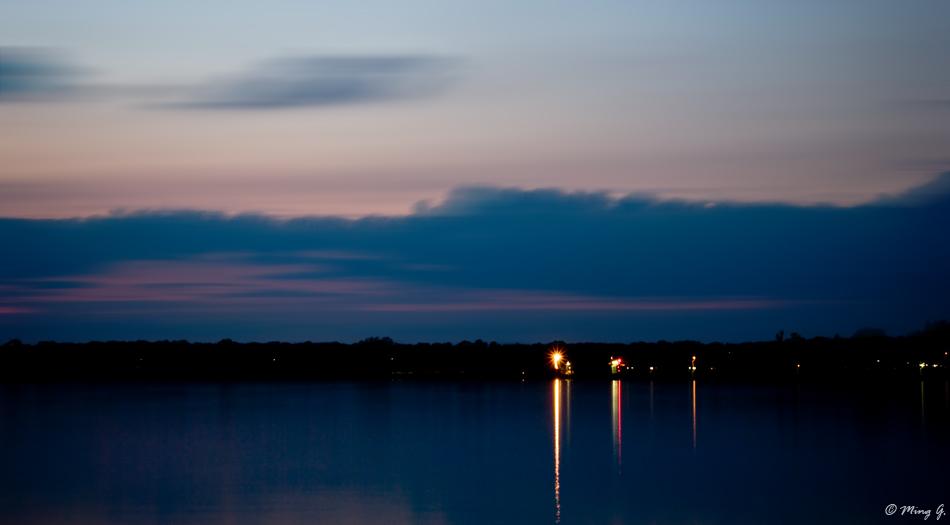 Night at Ronkonkoma Lake