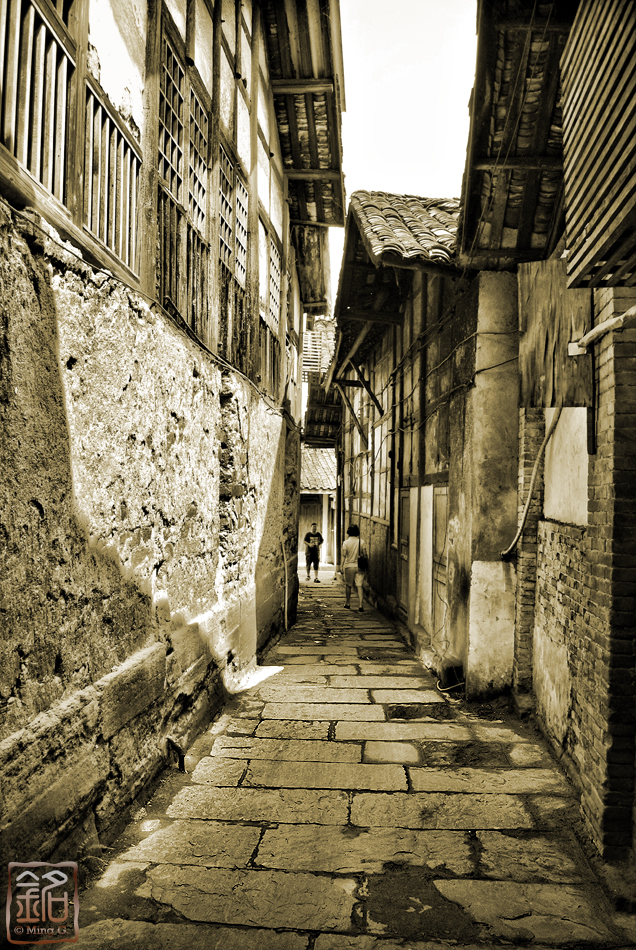 The Ancient Street of Huanglongxi - sepia