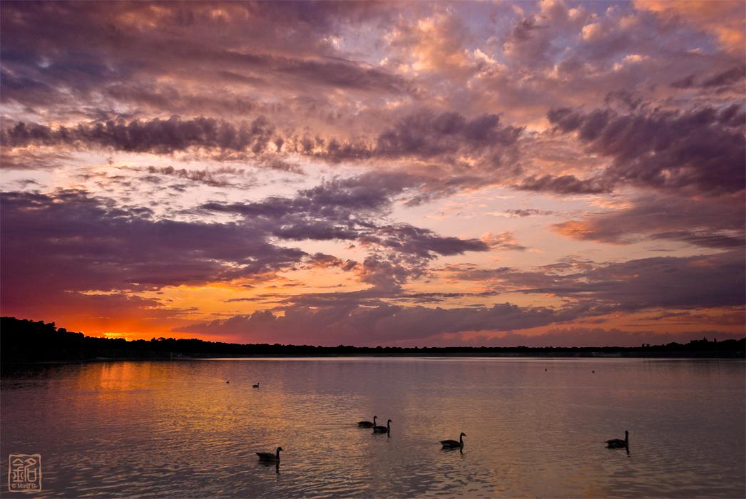 Sunset at Ronkonkoma Lake
