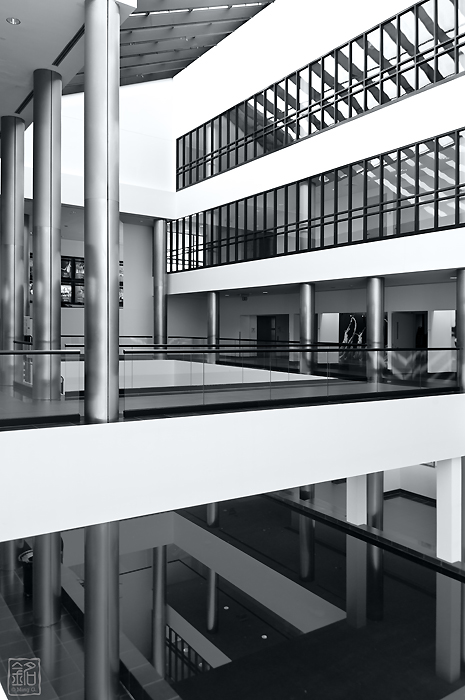 Reflections - The West Wing of Charles B. Wang Center, Stony Brook University