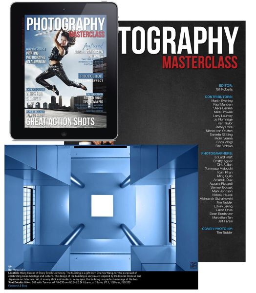 "Screenshot of ""Up"", and the cover of Photography Masterclass April 2013 issue."