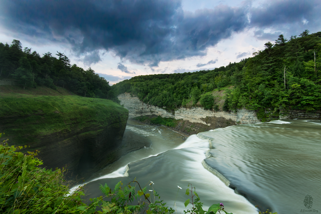 Cloud over Middle Fall Gorge