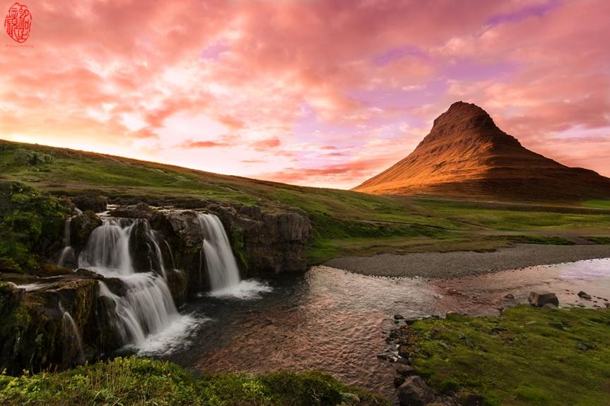 Sunset at Kirkjufellsfoss